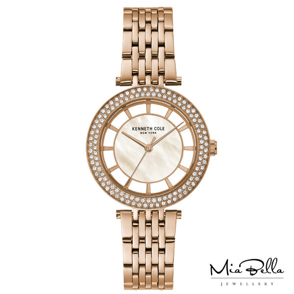 Kenneth Cole Mother of Pearl Rose Gold Dress Watch