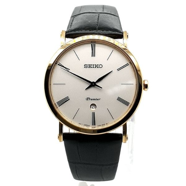 Seiko Premier Gold Colour Mens Dress Watch