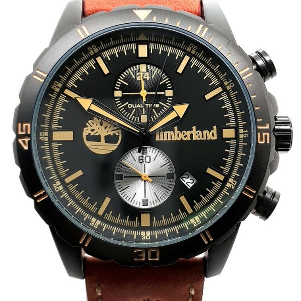 Timberland Mens Dunford Chronograph Black Tone Watch