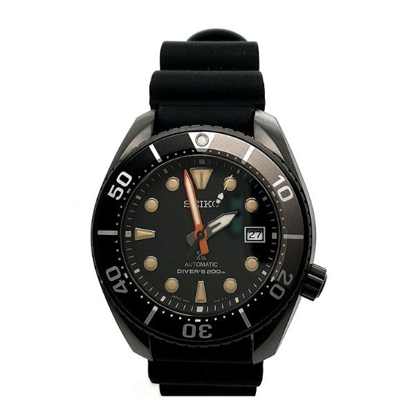 Seiko Prospex Automatic Mens Black Divers Watch Limited Edition