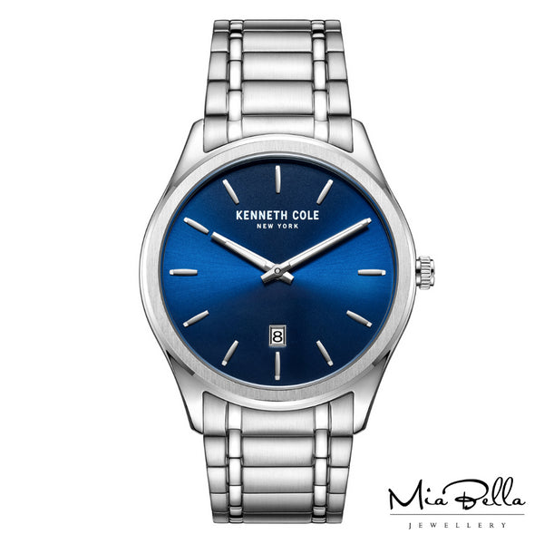 Kenneth Cole Blue Dial Stainless Steel Mens Watch