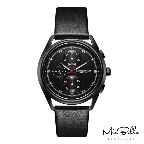 Kenneth Cole Black Dial Mens Sports Watch
