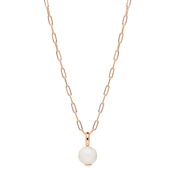 Freshwater Pearl Najo Ms Perla Neckalce Sterling Silver Rose Gold Plated