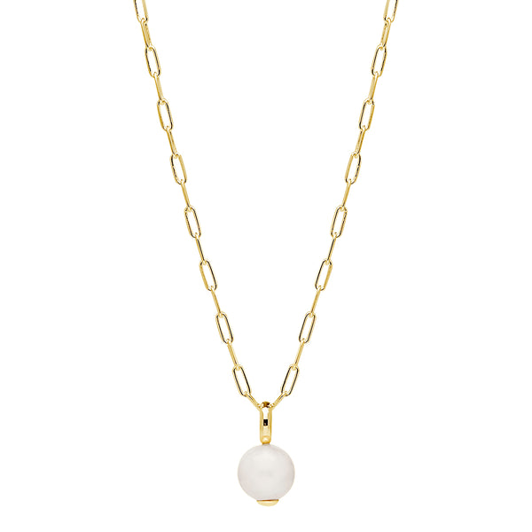 Freshwater Pearl Najo Ms Perla Neckalce Sterling Silver Yellow Gold Plated