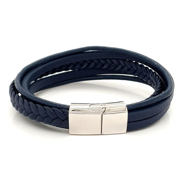 Blue Multi Bracelet Leather