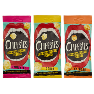 Cheesies Crunchy Popped Cheese (Box of 12)