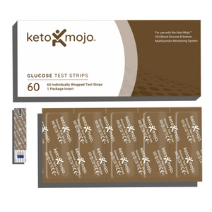 Keto-Mojo GKI Glucose Test Strips (60 Strips) For Keto-Mojo GKI Bluetooth Only (European Model)