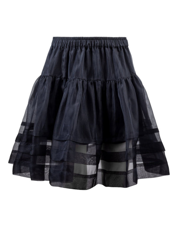 Helene Galwas, Demi, Flared Skirt, Organza Silk, Black