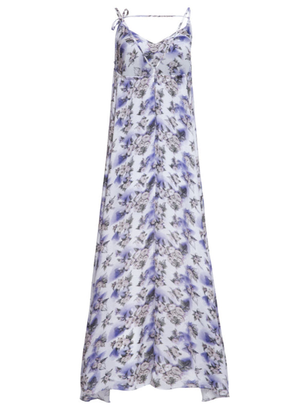 Helene Galwas, Denise, Loose strap dress, viscose silk, Floral