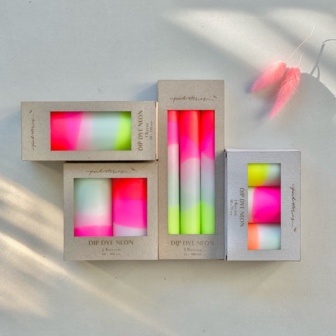 pink-stories-neon-dinner-candles