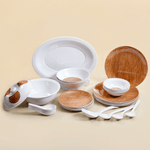 Wood Stain Dinner Set (Round)