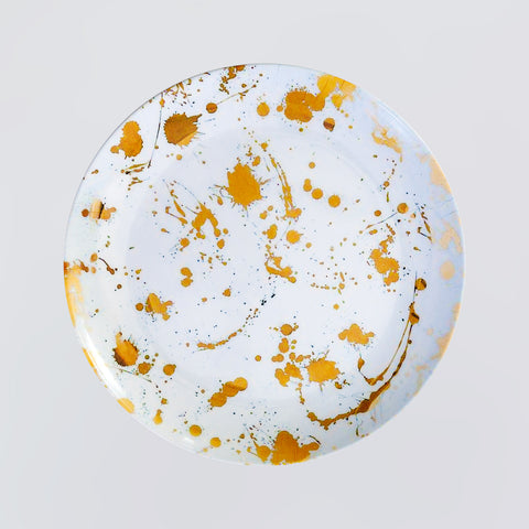 Gold Stain Round Plate