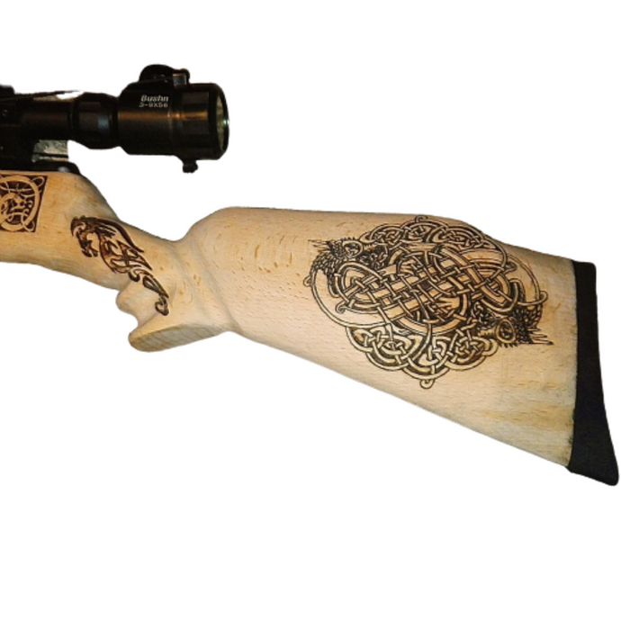 Bam B4 SMK B4 Viking Norse Gun Stock Engraving by Retrosheep #Airgun