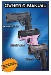 AFTERMATH CO2 BB PISTOL OWNERS MANUALS AND EXPLODED BREAKDOWN DIAGRAMS