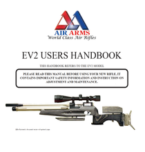 Load image into Gallery viewer, Air Arms EV2 MK3 Airgun Air Rifle Gun Pistol Owners Manual Instant Download #AirArms