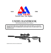 Load image into Gallery viewer, Air Arms S410 TDR Airgun Air Rifle Gun Pistol Owners Manual Instant Download #AirArms