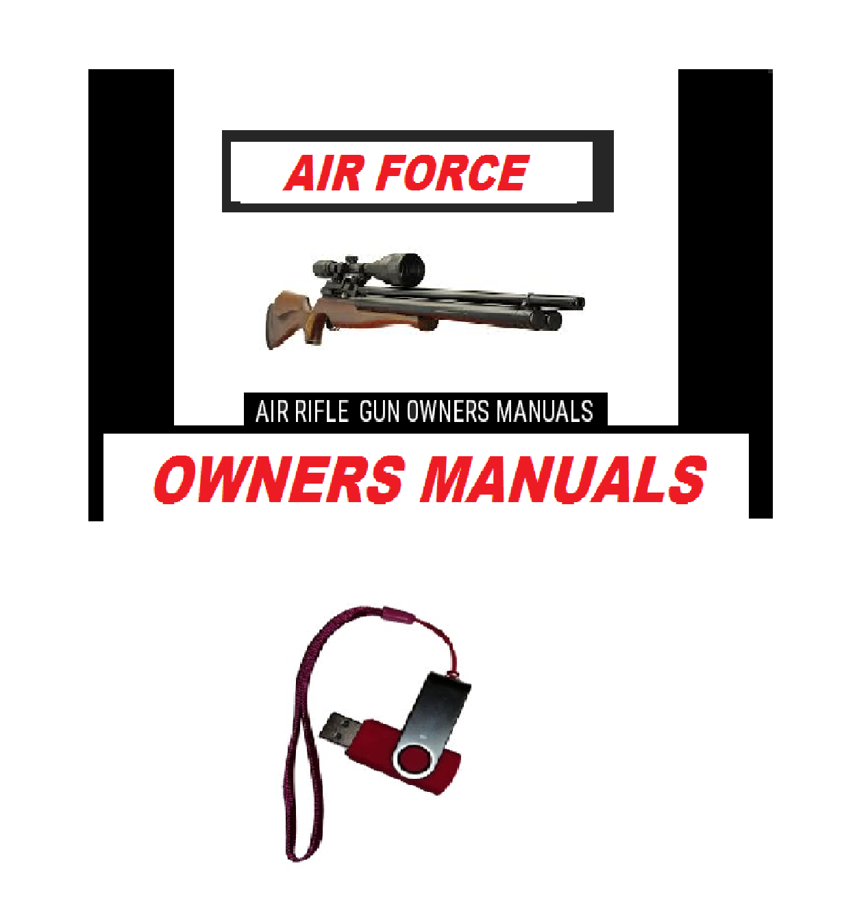 Air Force Airgun Air Rifle Gun Pistol Owners Manuals Firearms Weapons Complete Set USB