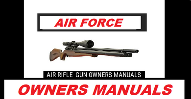 Air Force Escape  / Escape UL / Escape SS / Escape TM Rifle Safety and Operational Airgun Air Rifle Gun Owners Manuals Firearms Weapons #AirForce