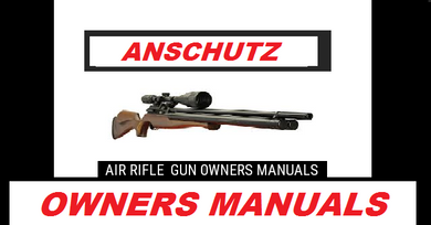 Anschutz Airgun Air Rifle Gun Pistol Owners Manuals Firearms Weapons Complete Set