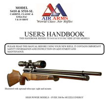 Load image into Gallery viewer, Air Arms S410 S510 Side Lever Models Airgun Air  Rifle Gun Pistol Owners Manual Instant Download #AirArms