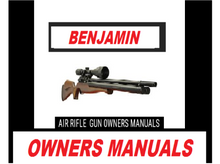Load image into Gallery viewer, Benjamin Airgun Air Rifle Gun Pistol Owners Manuals Firearms Weapons Complete Set