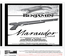 Load image into Gallery viewer, MARAUDER PISTOL Benjamin Airgun Air Rifle Gun Pistol Owners Manuals Firearms Weapons Complete Set
