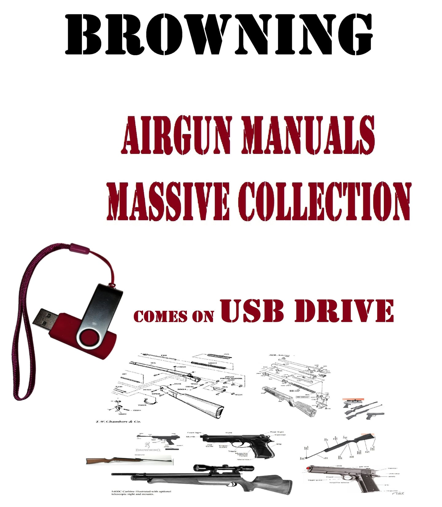 Browning Air Rifle Gun Owners Manuals Exploded Diagrams Service Maintenance And Repair