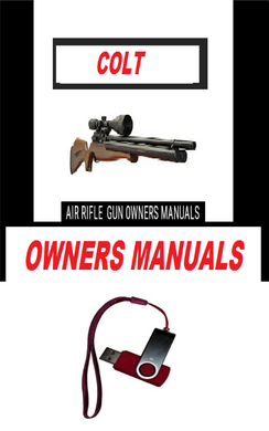 Colt  Airgun Air Rifle Gun Pistol Owners Manuals Firearms Weapons Complete Set