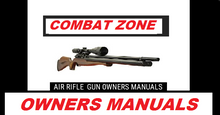 Load image into Gallery viewer, Combat Zone Stryker Pistol Air Rifle Gun Owners Manuals