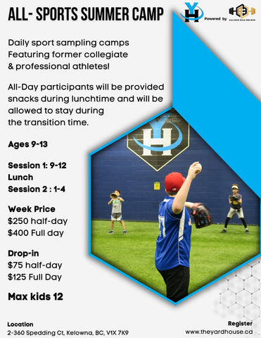 All Sport Summer Camps | The Yardhouse Kelowna