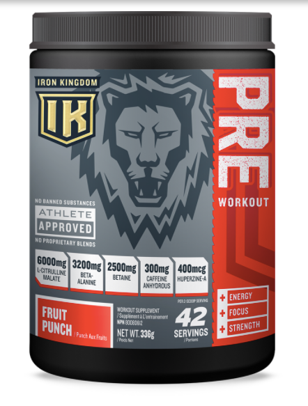 Iron Kingdom Pre-Workout Fruit Punch | The Yardhouse Kelowna