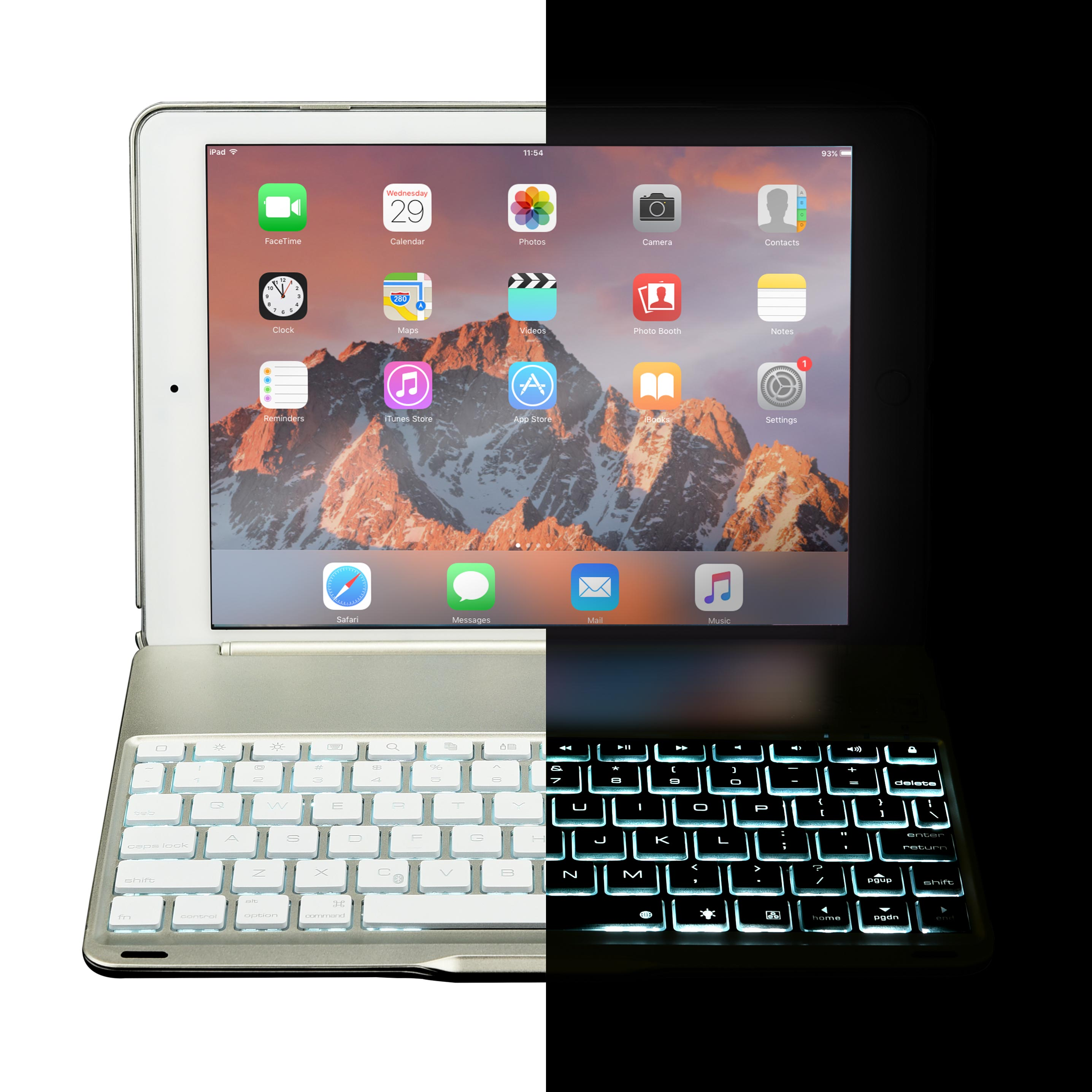Cooper Notekee F8s Clamshell Backlit Keyboard Case For Apple Ipad Wireless Mini I8 With 3 Colour Backlight Bluetooth 30 Connection So You Dont Need Cables Scissor Cut Keys Provide Typing Experience Just Like On Laptop 7 Led Key Colors