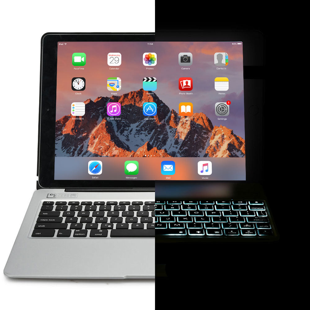82cb7a8caba BACKLIT BLUETOOTH FULL SIZE KEYBOARD WITH 17 SHORTCUT KEYS Wireless  Bluetooth 3.0 iPad connection so you don't need cables. Scissor cut keys  provide typing ...