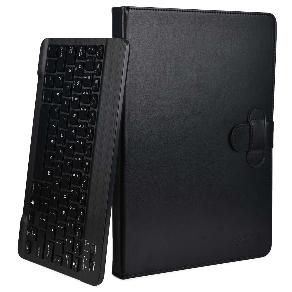 e49d5b7199c 2-in-1 LEATHER FOLIO CASE WITH STAND & DETACHABLE KEYBOARD Multi purpose  functionality > use as compact keyboard folio case or classic folding folio  tablet ...