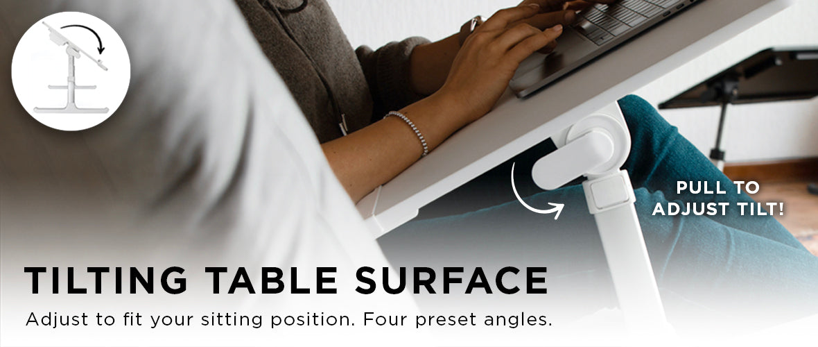 Tilting table surface