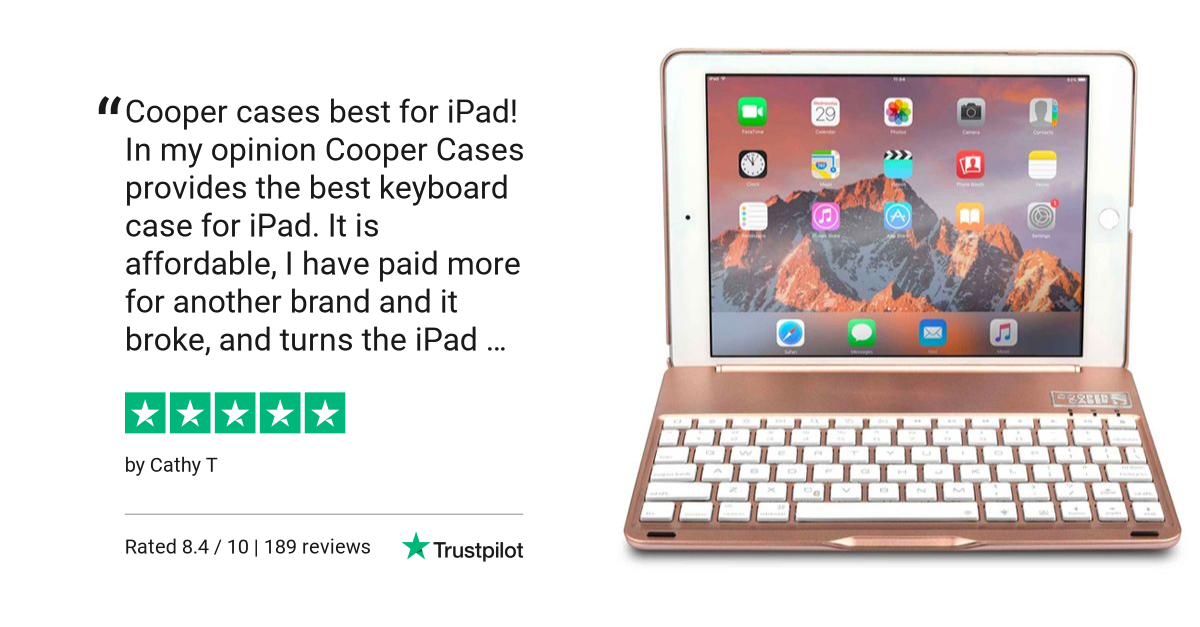 Cooper Notekee keyboard case for iPad Air 3