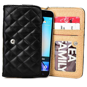 "Cooper Quilted Women's Clutch Universal 5"" Smartphone Wallet Case NEW - 3"