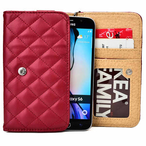 "Cooper Quilted Women's Clutch Universal 5"" Smartphone Wallet Case NEW - 2"