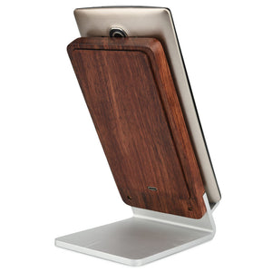 Cooper EcoStand Wood Qi 3 Coil Wireless Charging Stand for Smartphones