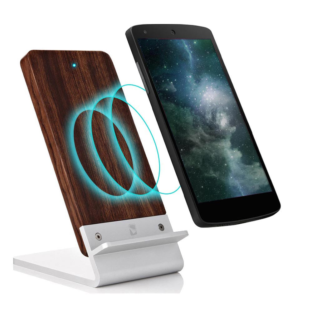 cooper ecostand wood qi 3 coil wireless charging stand for. Black Bedroom Furniture Sets. Home Design Ideas