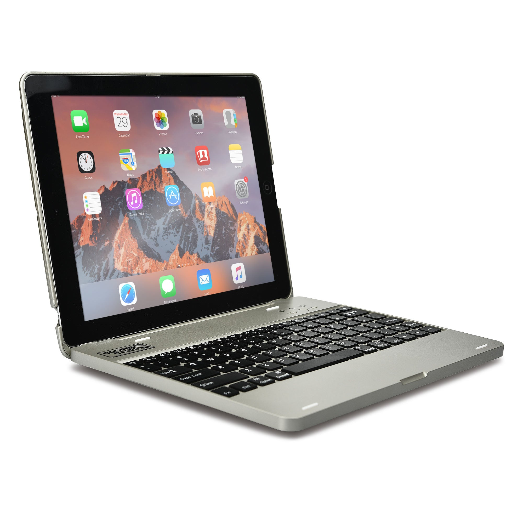 f933c4a39e6 Cooper Kai Skel P1 Clamshell Keyboard Case with Built-in Powerbank for  Apple iPad 2/3/4