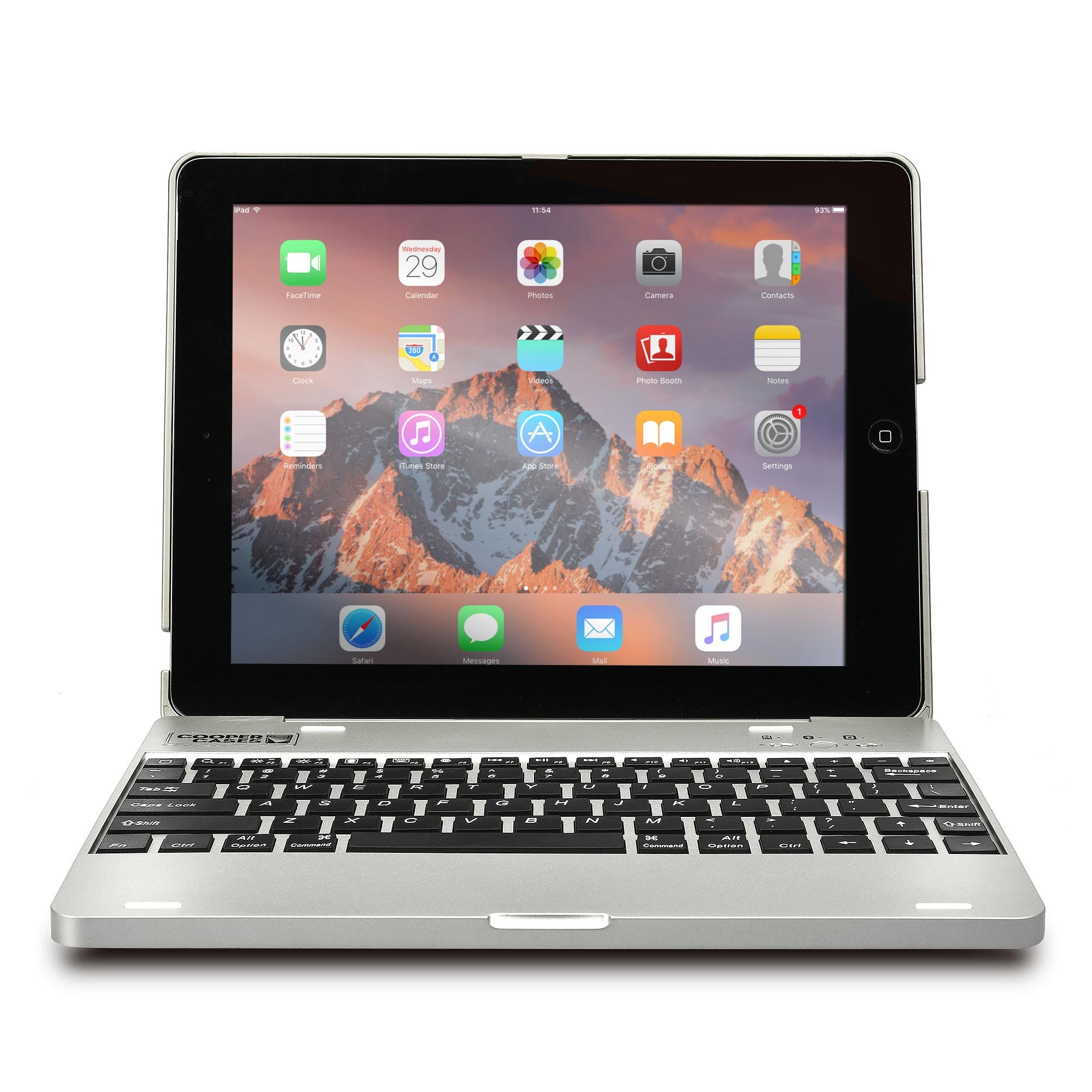 Cooper Kai Skel P1 Clamshell Keyboard Case with Built in Powerbank for Apple iPad 2 3 4