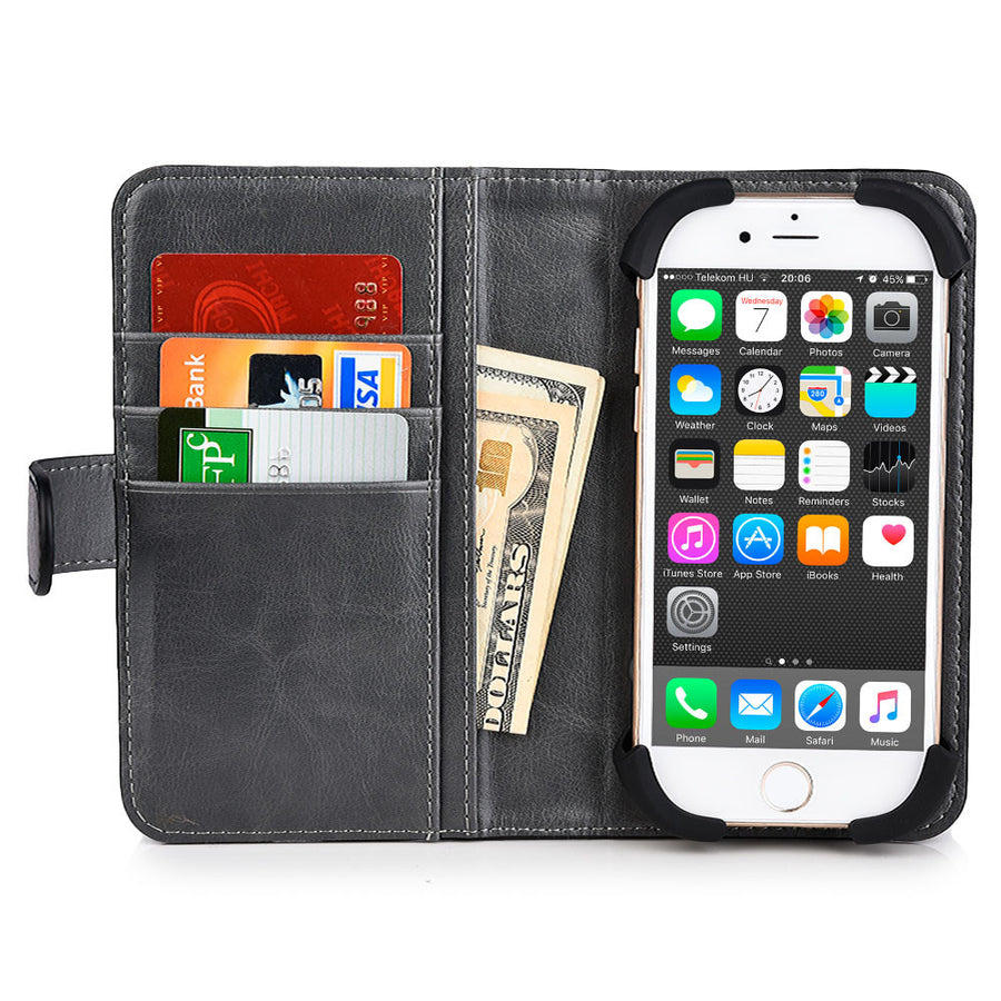 "Cooper Engage 5"" Smartphone Rotating Leather Wallet Case"