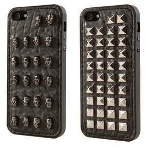 Cooper Rebel Leather Gunmetal Phone Shell