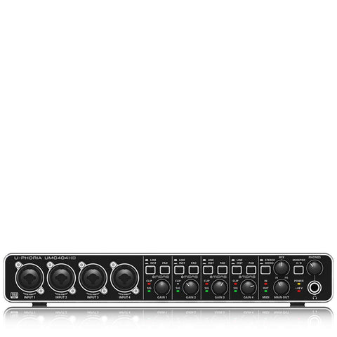 Behringer UMC404HD U-Phoria MIDI Interface with MIDAS Mic Preamplifiers