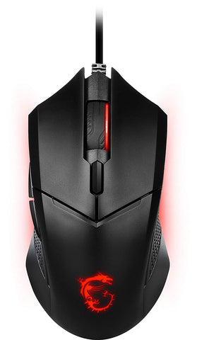 MSI Clutch GM08 4200 DPI Optical Wired Gaming Mouse with Red LED