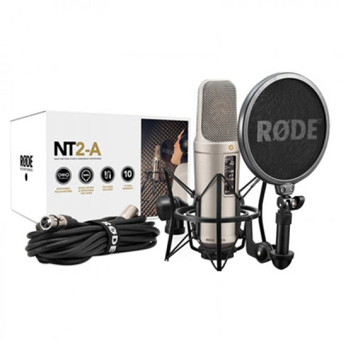 Rode NT2-A Large Diaphragm 3 Polar Pattern Studio Condenser Microphone