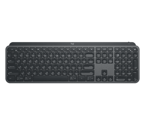 Logitech MX Keys Advanced Illuminated Wireless Keyboard, Bluetooth, Tactile Responsive Typing, Backlit Keys, USB-C, PC/Mac/Laptop, Windows/Linux/iOS/Android - Graphite Black