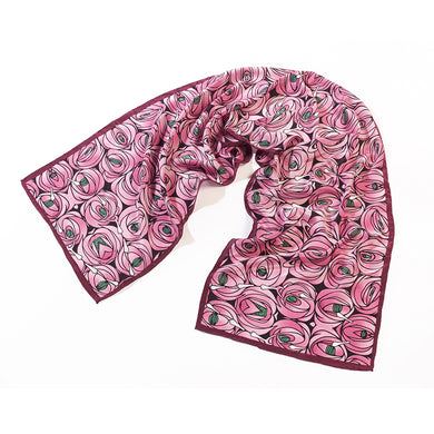 Mackintosh Rose And Teardrop Silk Scarf