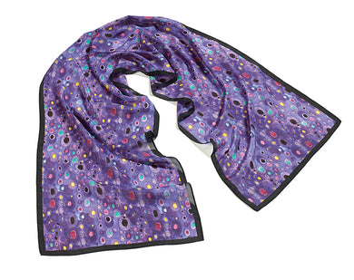Klimt Purple Silk Scarf